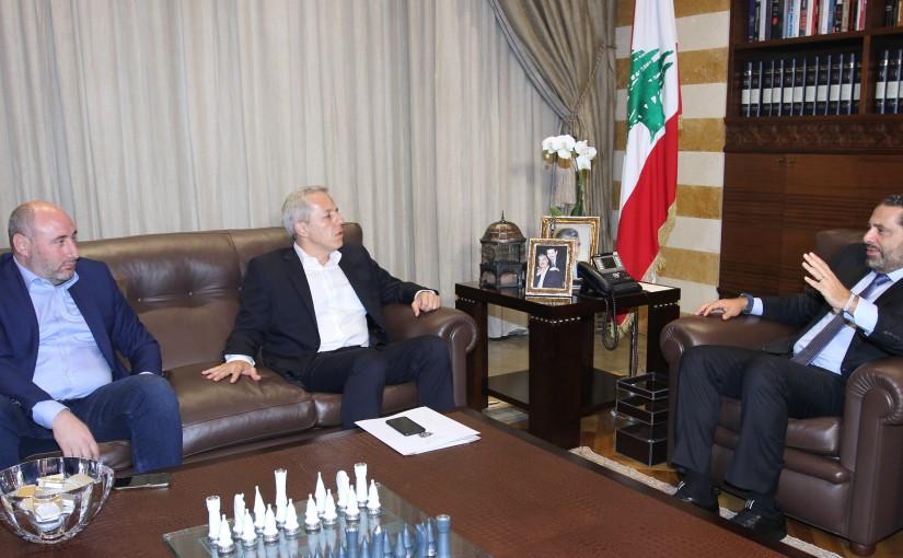 Pr Minister Saad Hariri meets Mr Imad Labaki