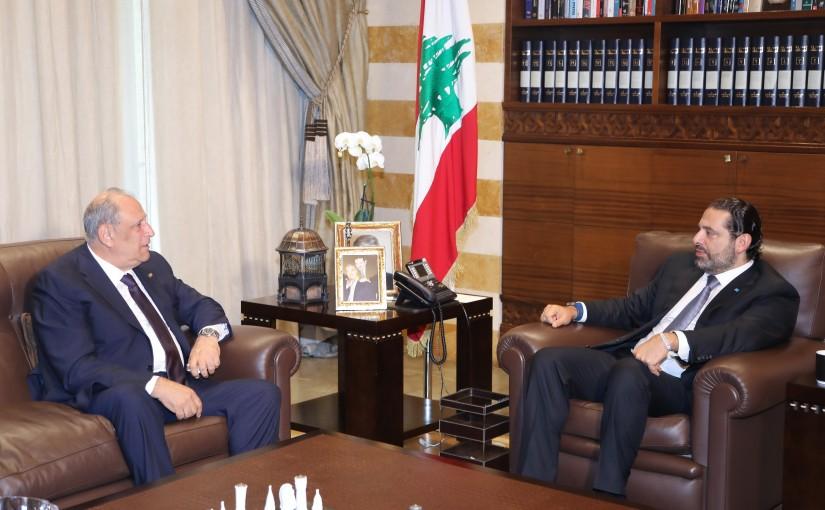 Pr Minister Saad Hariri meets Minister Jamal Jarrah