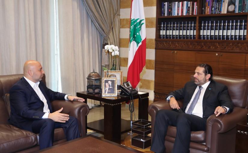 Pr Minister Saad Hariri meets Mr Raed Fakhredine