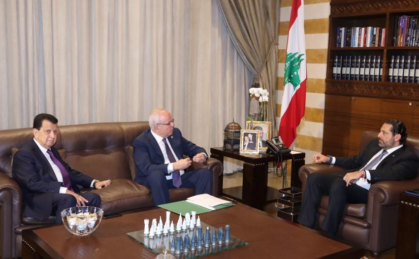 Pr Minister Saad Hariri meets Mr Faycal Sino