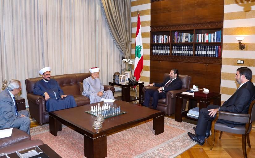 Pr Minister Saad Hariri meets Mufti Khalil el Mayss