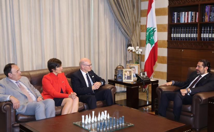Pr Minister Saad Hariri meets a Canadian Delegation