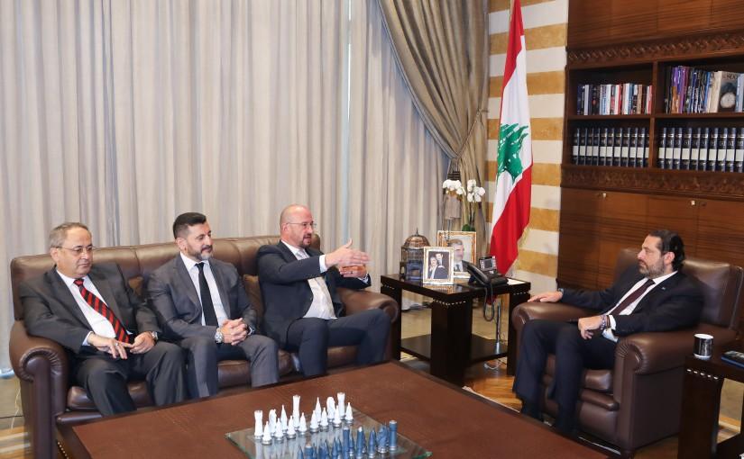 Pr Minister Saad Hariri meets a Delegation from Siemens