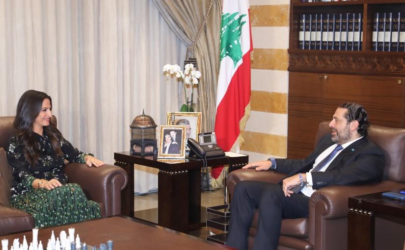 Pr Minister Saad Hariri meets Mrs Myriam Skaff
