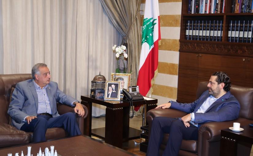 Pr Minister Saad Hariri meets Minister Talal Erslan