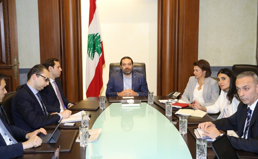 Pr Minister Saad Hariri meets a Delegation from Golden of Sachs