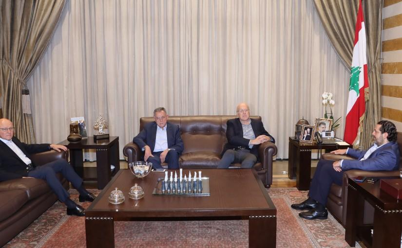 Pr Minister Saad Hariri meets a Former Pr Minister Najib Mikati & Former Pr Minister Fouad Siniora & Former Pr Minister Tammam Salam