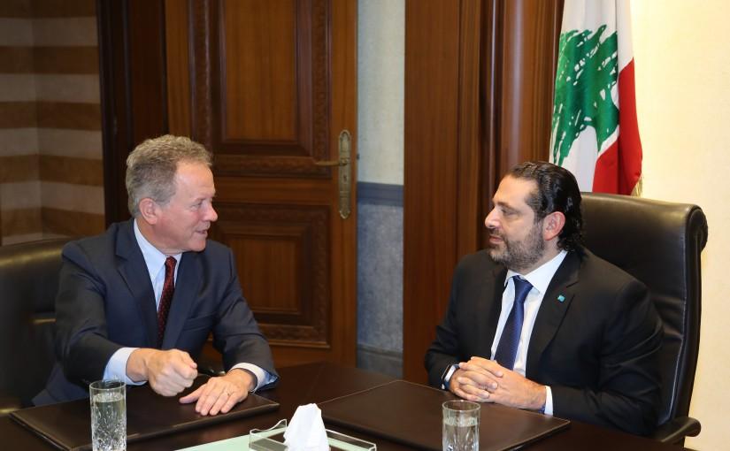 Pr Minister Saad Hariri meets Mr David Beasley with a Delegation