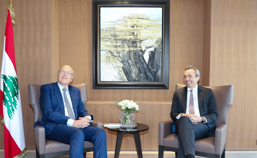 Former Pr Minister Najib Mikati meets British Ambassador