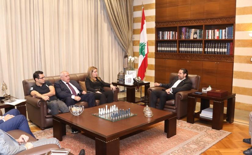 Pr Minister Saad Hariri meets a Delegation from Lebanese Media