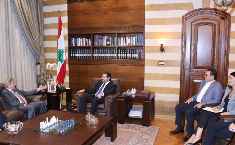 Pr Minister Saad Hariri meets a European Delegation