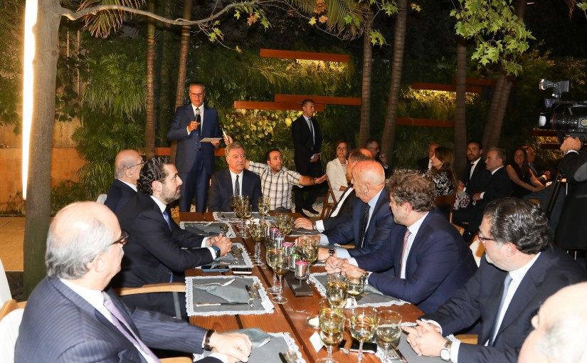 Diner Hosted by Mr Jacque Saraf in Honors of Pr Minister Saad Hariri