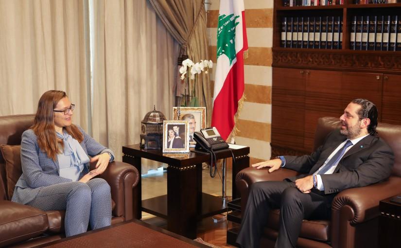 Pr Minister Saad Hariri meets Denmark Ambassador