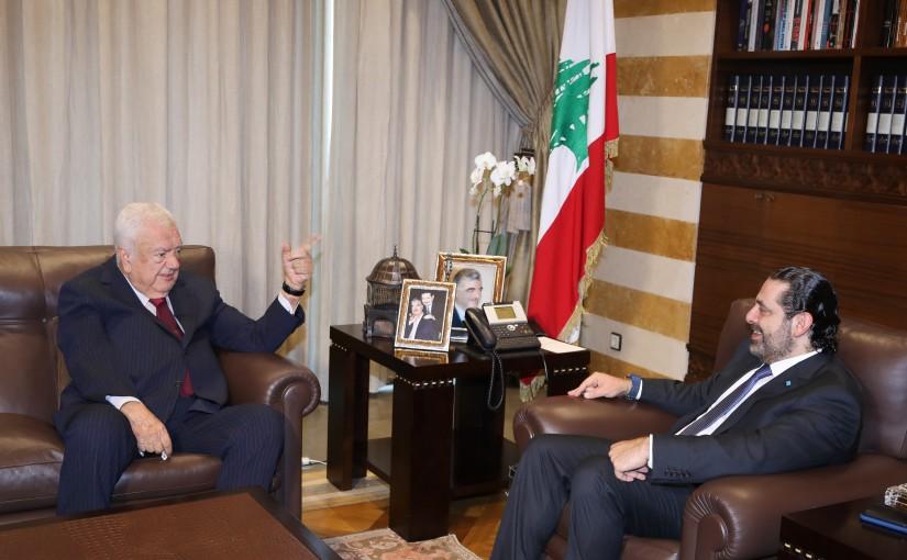 Pr Minister Saad Hariri meets Mr Ahed Baroudi