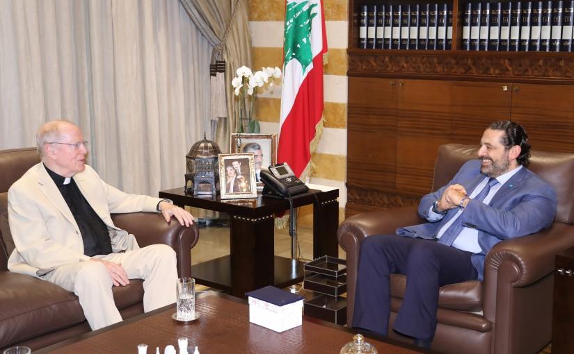 Pr Minister Saad Hariri meets Father Leo O Donovan