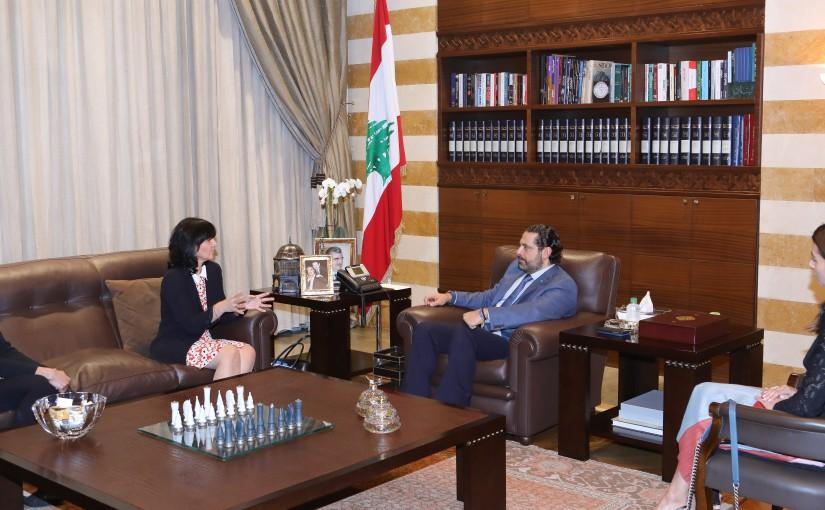 Pr Minister Saad Hariri meets a Delegation of  Lebanese STC