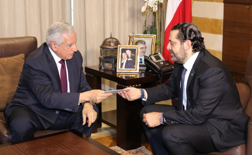Pr Minister Saad Hariri meets a Delegation from LAU