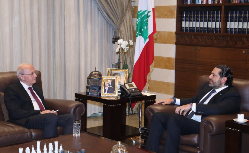 Pr Minister Saad Hariri meets Judge Samir Hamoud