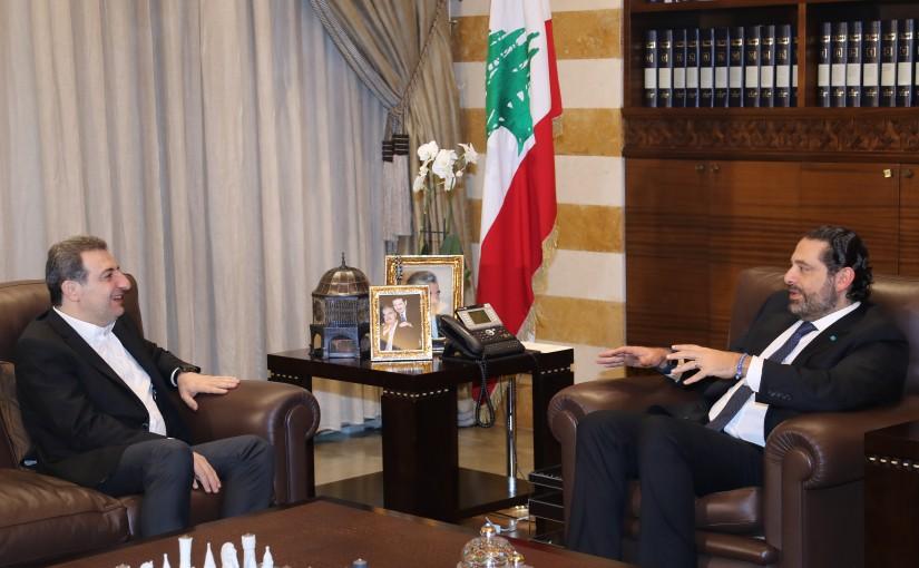 Pr Minister Saad Hariri meets MP Wael abou Faour