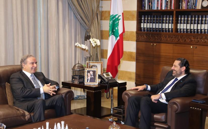 Pr Minister Saad Hariri meets Minister Michel Pharaon
