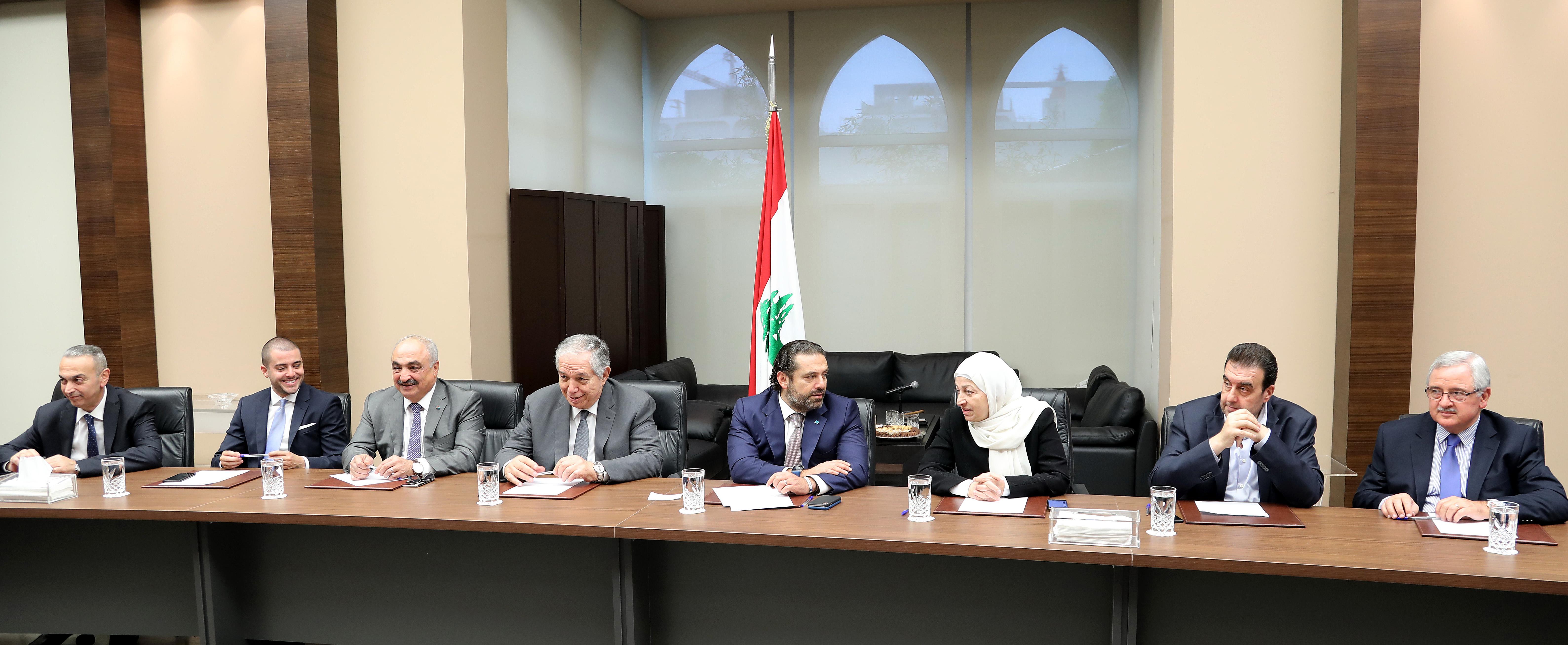 Pr Minister Saad Hariri Heading Almustaqbal MPs Bloc 3