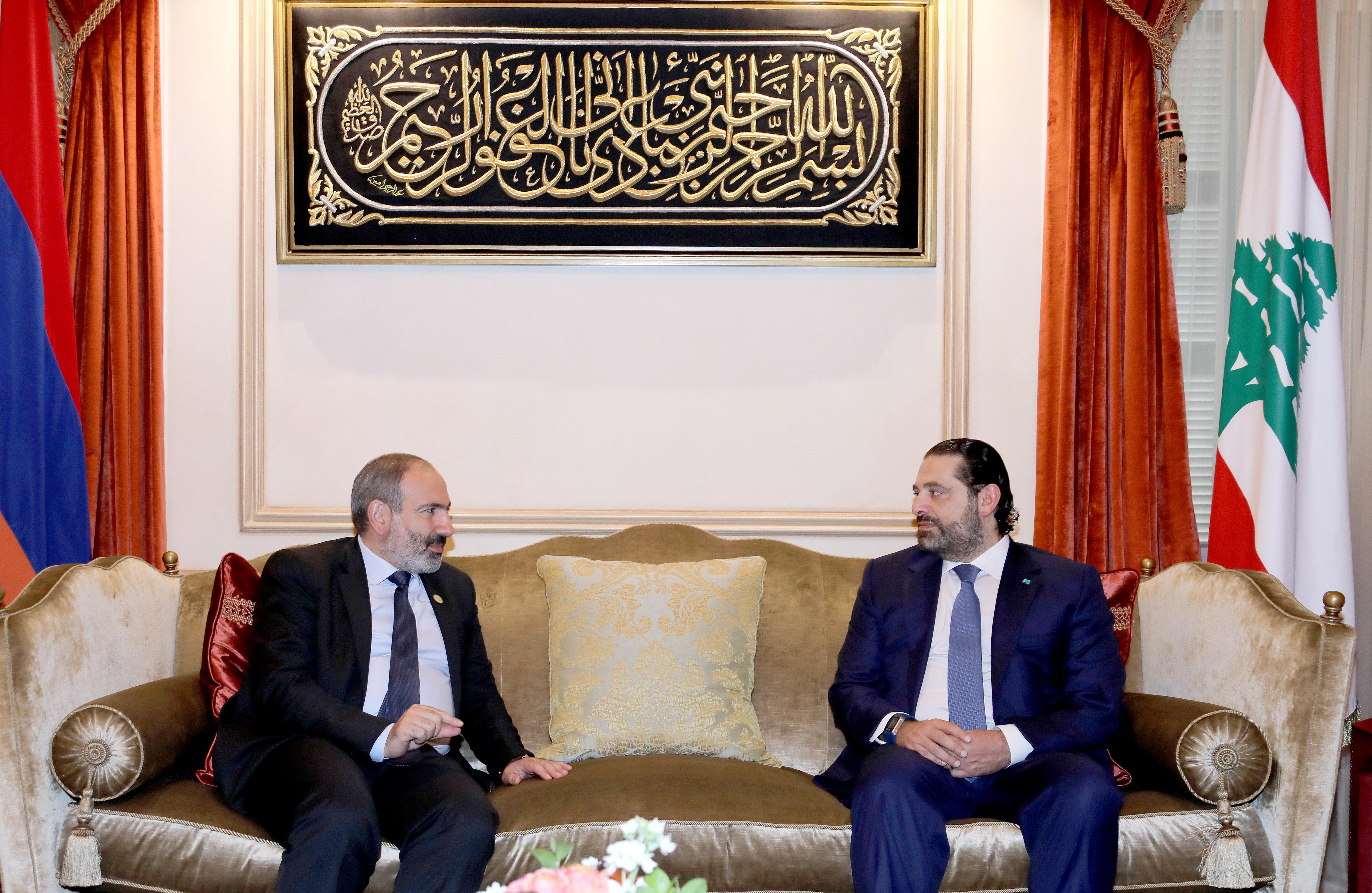 Pr Minister Saad Hariri meets Armenian Pr Minister 1