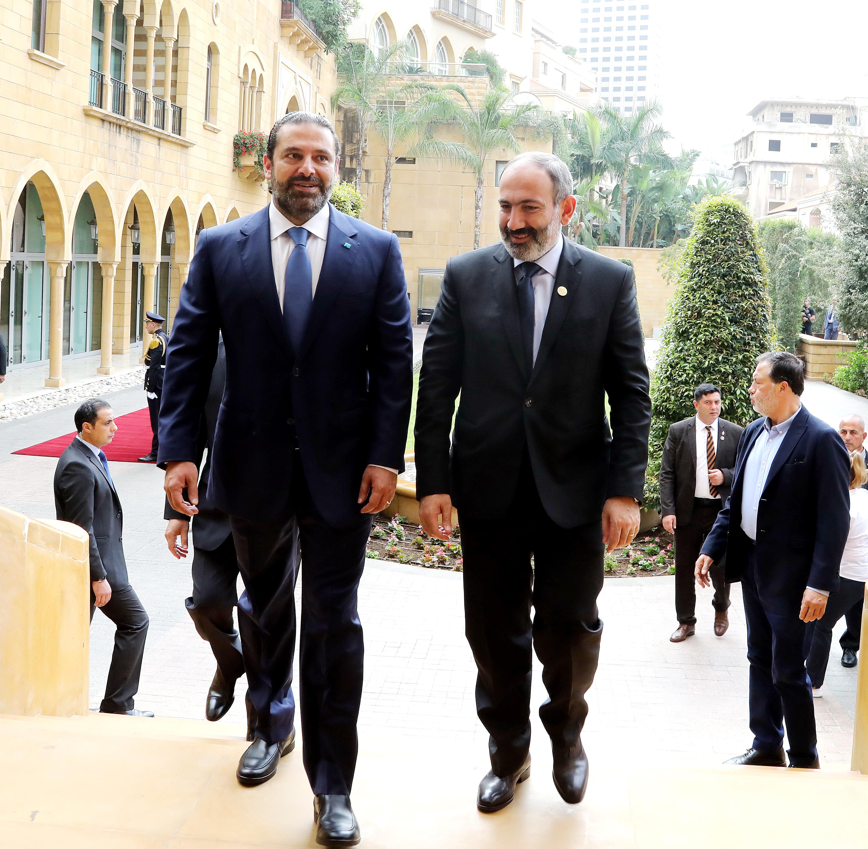 Pr Minister Saad Hariri meets Armenian Pr Minister 2