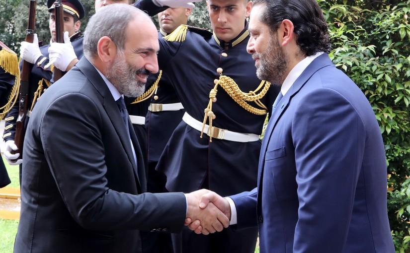 Pr Minister Saad Hariri meets Armenian Pr Minister