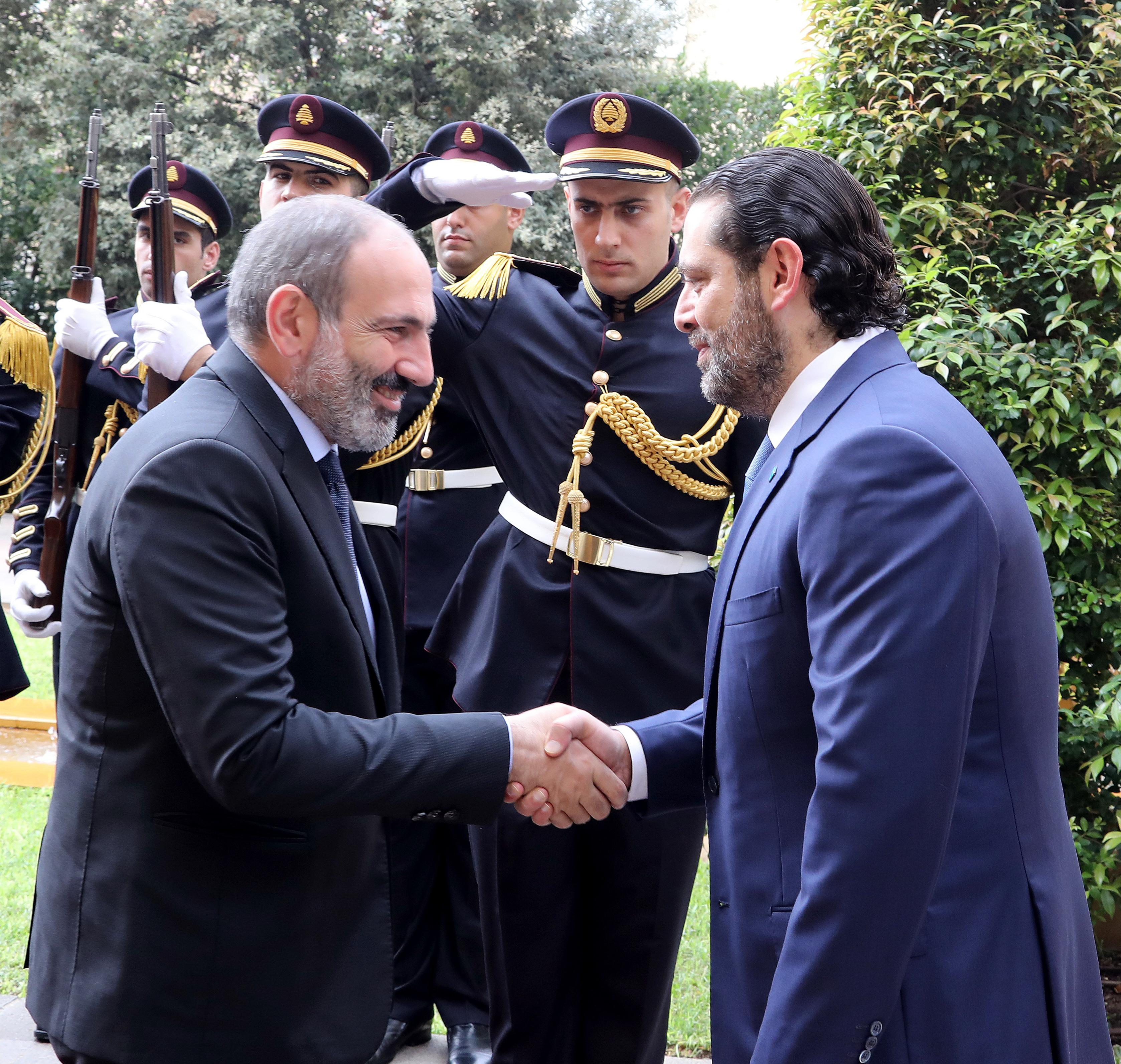 Pr Minister Saad Hariri meets Armenian Pr Minister 3