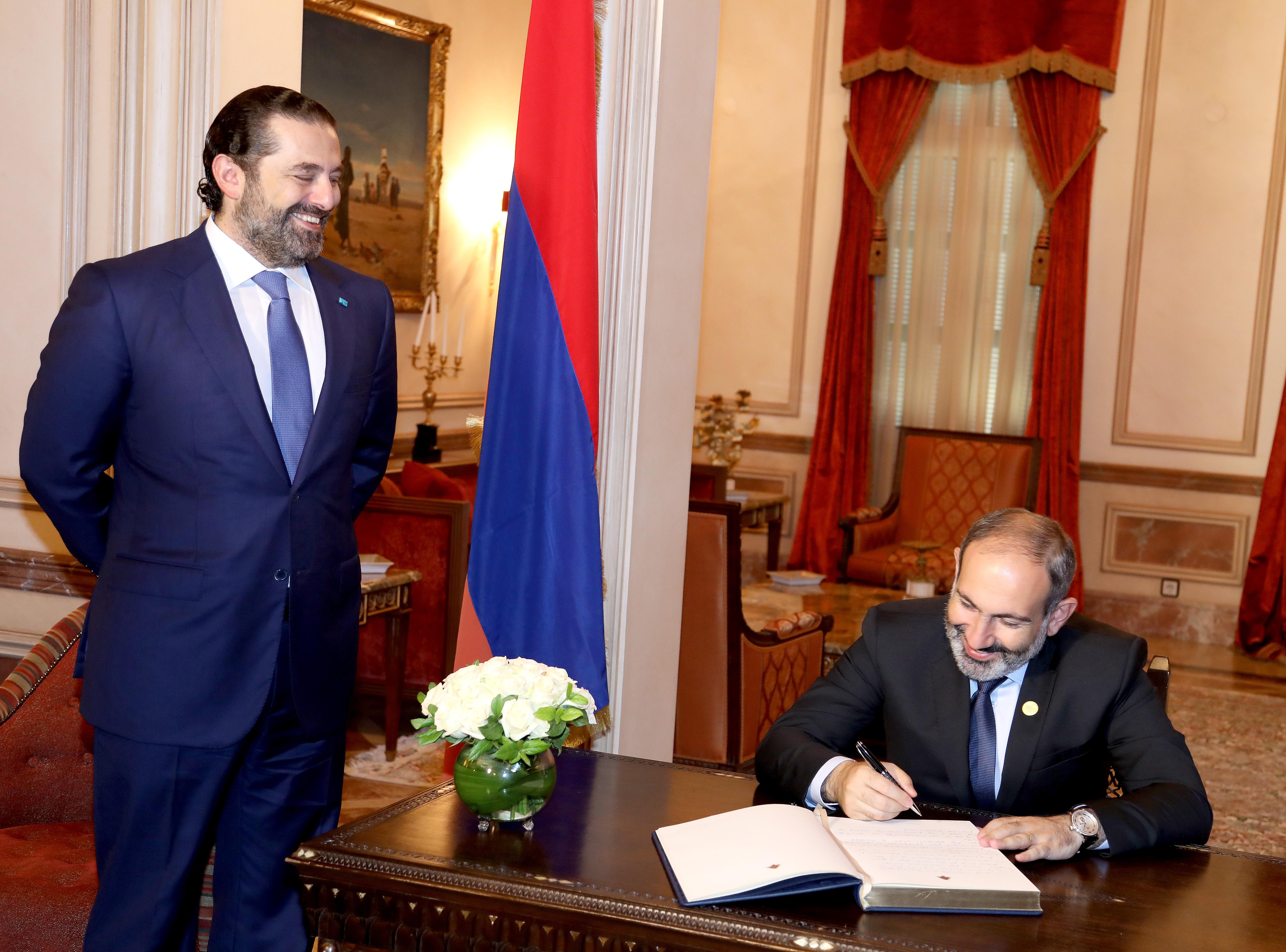Pr Minister Saad Hariri meets Armenian Pr Minister 4