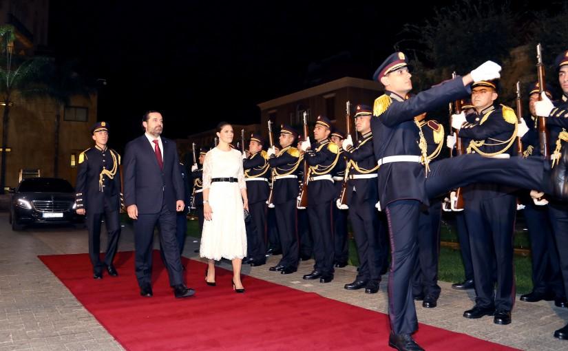 Pr Minister Saad Hariri meets HRH Crown Princess Victoria of Sweden