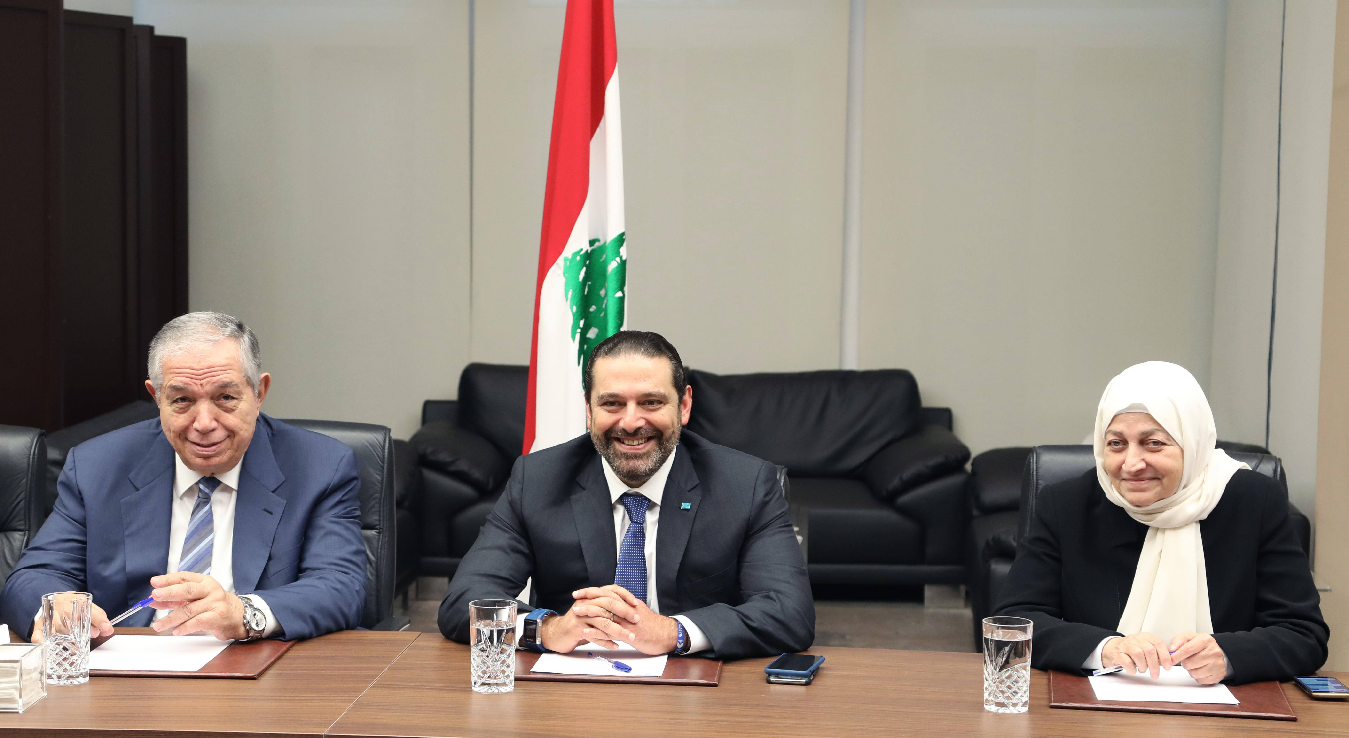 Pr Ministrer Saad Hariri Heading Almustaqbal MPs Bloc 1