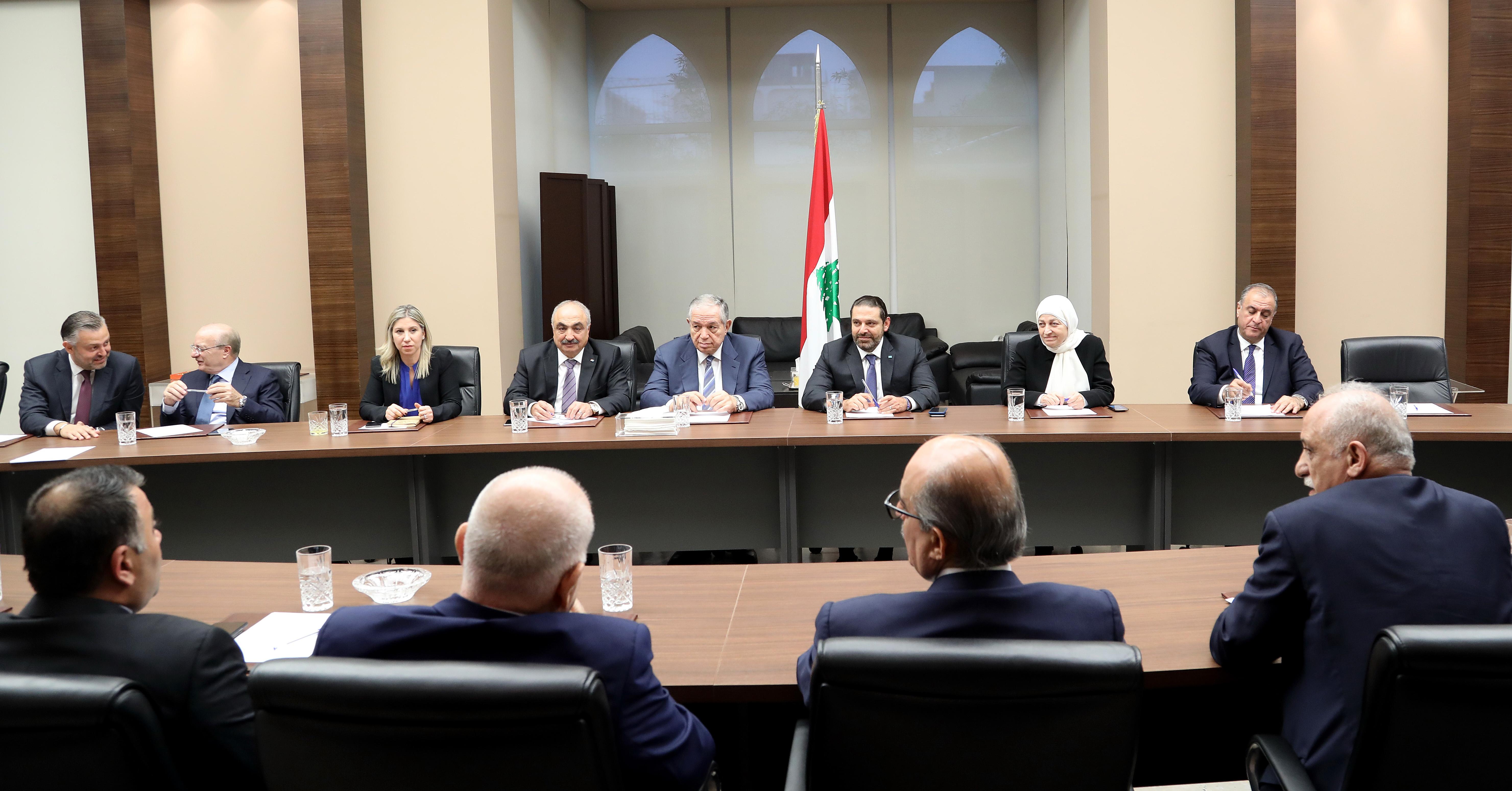 Pr Ministrer Saad Hariri Heading Almustaqbal MPs Bloc 3