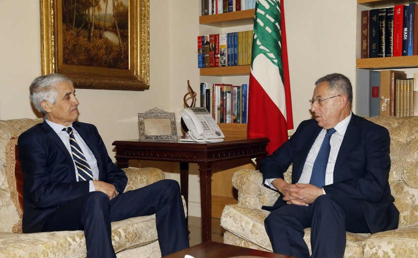 Former Pr Minister Fouad Siniora meets Algerian Ambassador