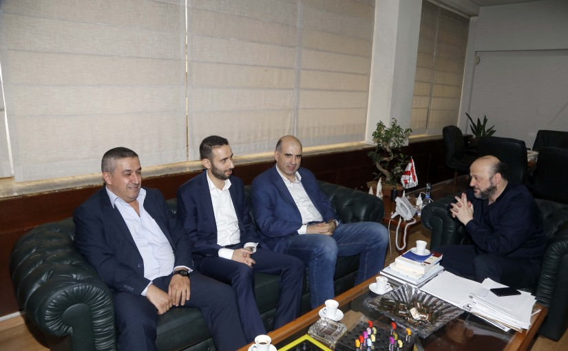 Minister Melhem Riachi meets Mr Louis Lahoud with a Delegation