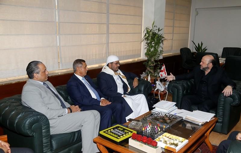 Minister Melhem Riyachi Meets Dr Ahmad Atiyeh Yemen Minister of Awkaf
