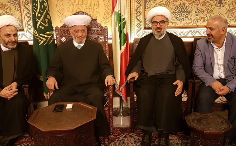 Mufti Abdel Latif Derian meets Sheikh Fouad Khreyess