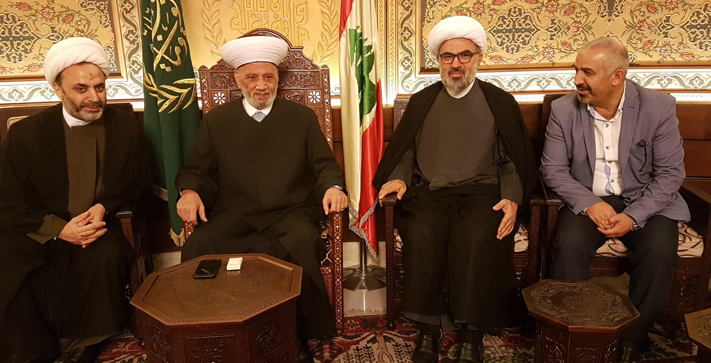المفتي دريان مع وفد من مكتب السيد فضل الله 8-11-2018
