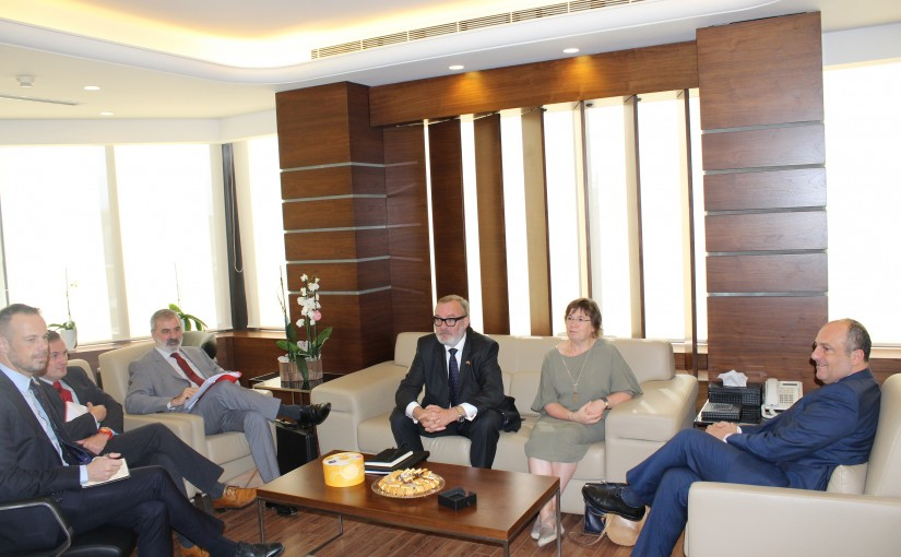 Minister Pierre abi assi meets a Belgium Delegation