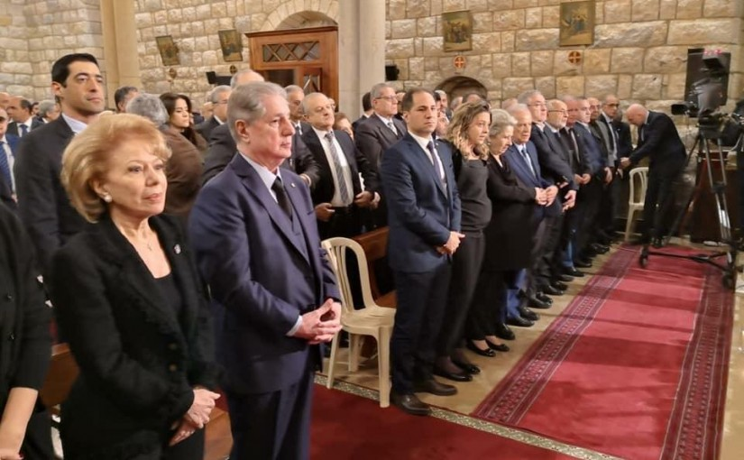 President Gemayel on the 12th anniversary of the martyrdom of Pierre Gemayel