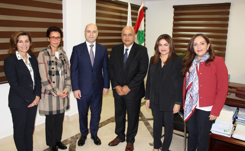 Minister Ghassan Hasbani Meets a Delegation From The World Bank