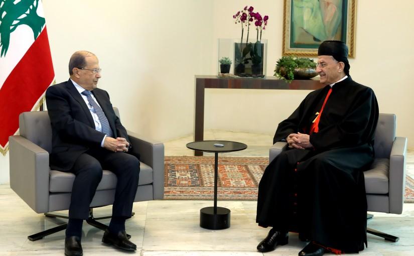 President Michel Aoun meets  Patriarch Mar Bechara Boutros Rahi.
