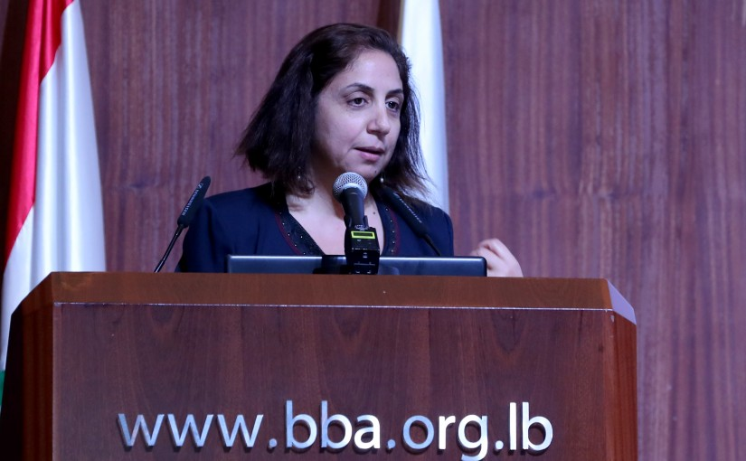 Mrs. Claudine Aoun Roukoz attends  the occasion of World Children's day Seminar.