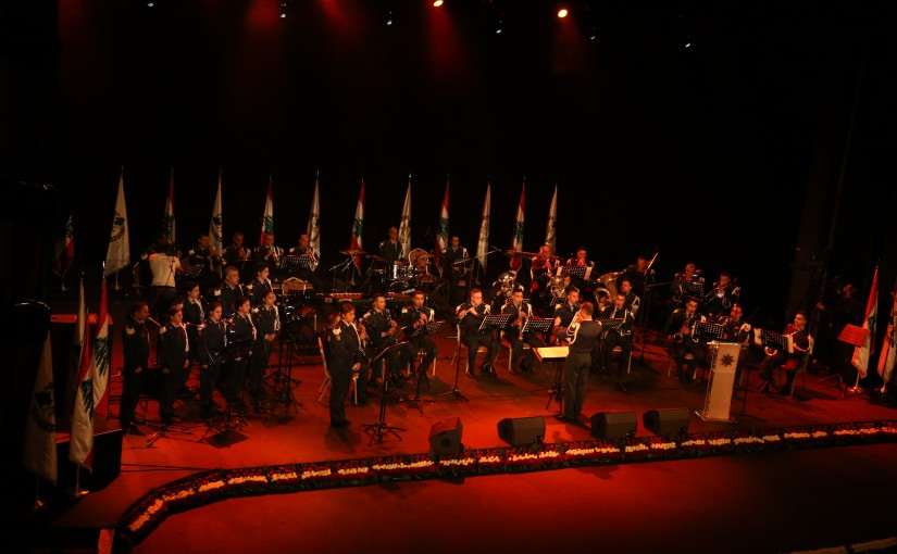 President Michel Aoun Attends a Concert at Casino du Liban