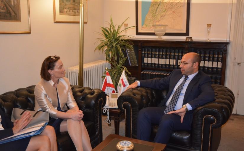 Ambassador Hani Chemayteli meets a Suisse Delegation