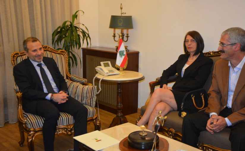 Minister Gebran Bassil meets a French Delegation