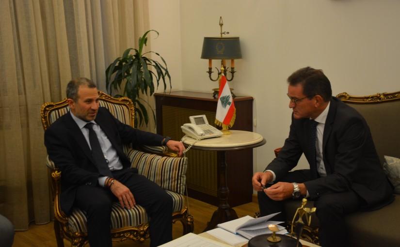 Minister Gebran Bassil meets German Ambassador