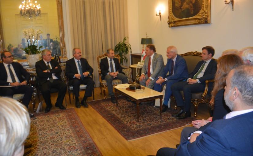 Minister Gebran Bassil meets a British Delegation