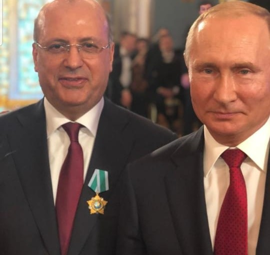 Russian President Vladimir Putin Honors Mr George Cheaban