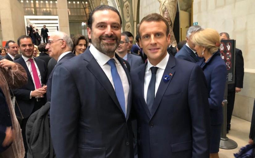 Pr Minister Saad Hariri meets President Emmanuel Macron